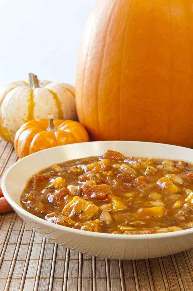 Sup Labu Daging Sapi Cincang