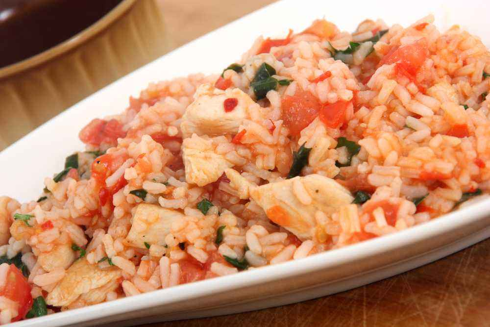 Nasi Tim Ayam Salmon Kuah Tomat