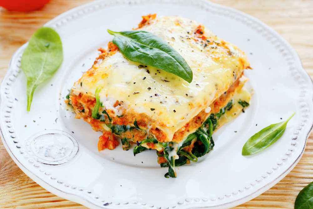 Lasagna Bayam Daging
