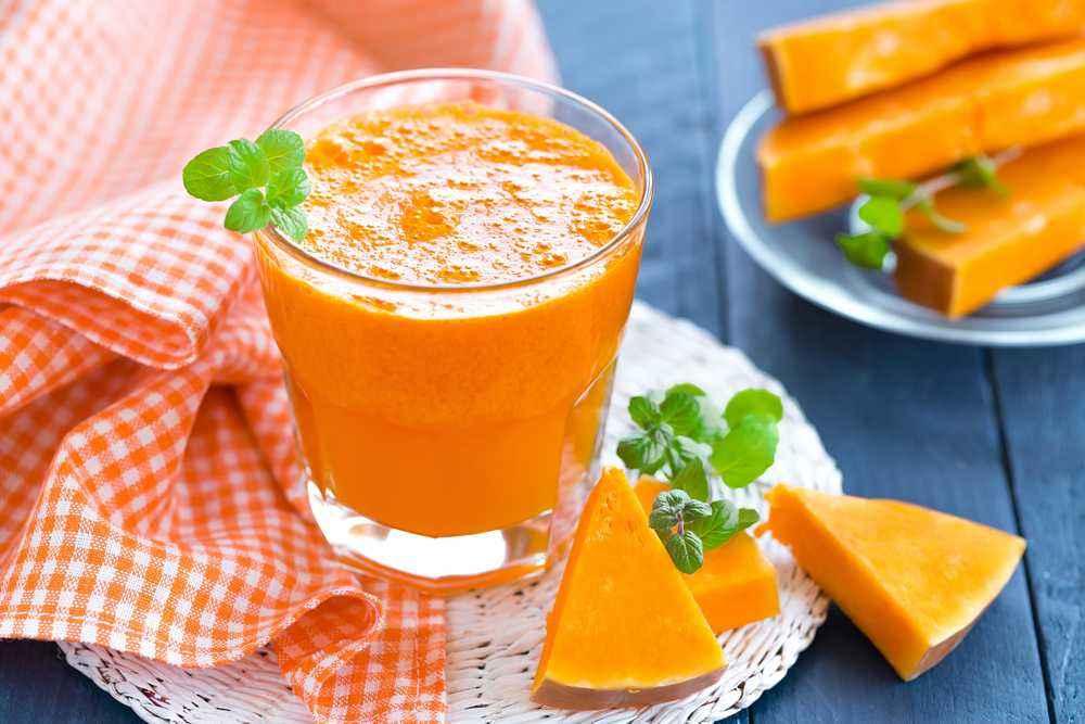 Smoothie Labu Apel Pepaya