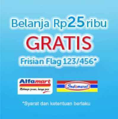 Belanja Rp 25ribu, GRATIS Frisian Flag 123/456!