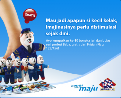Dapatkan Boneka Jari & Buku Aktivitas Profesi Baba Dari Frisian Flag 123/456!