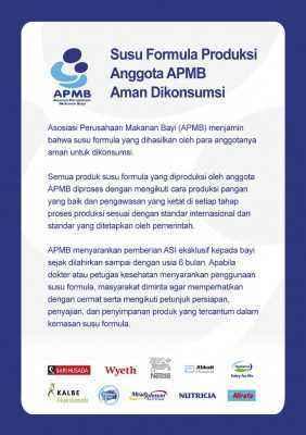 Susu Formula Produksi Anggota APMB Aman Dikonsumsi