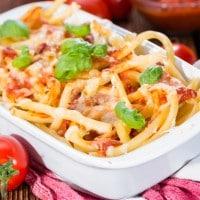 Kreasi Spaghetti Panggang untuk si Buah Hati